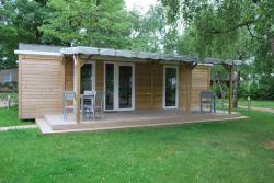PREMIUM Mobile home 36m² (2 bedrooms) + half covered terrace
