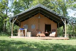 Huuraccommodaties - Safaritent Luxe - zontag - Camping La Castillonderie