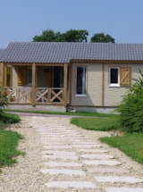 Rental - Chalet confort PREMIUM 33 m² (2 Bedrooms) + sheltered terrace - Domaine de Kervallon