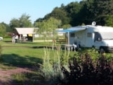 Pitch - Privilege Package (1 tent, caravan or motorhome / 1 car / electricity 12A) + Water point + Pitch of 200 m² - Domaine de Kervallon