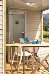 Rental - Cottage Blue Lagon2 Comfort, Arrival on Sunday (* Only in High Season) - CAP TAILLAT CAMPING