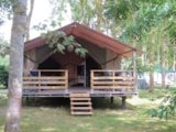 Rental - Freeflower CONFORT + 37m² - 2 bedrooms with sheltered terrace 13m² (Wednesday / Wednesday) - Flower Camping Le Haut Dick