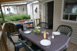 Rental - Mobile home 'Evasion Confort' 29m² + 2 bedrooms + terrace semi-covered 13.5m² - Camping L'Eden