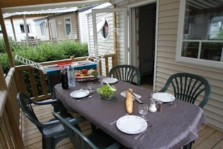 Mobile home 'Evasion Confort' 29m² + 2 bedrooms + terrace semi-covered 13.5m²