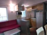 Rental - Mobile home 'Univers' 34m² + 3 bedrooms + sheltered terrace 18m² - Camping L'Eden