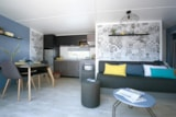 Rental - Mobile-Home 'Univers Luxe' 40 M² + 3 Bedrooms + Closed Terrace 18 M² - Camping L'Eden