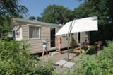 Rental - Mobile home (2 rooms) with shower and toilet - Camping Beringerzand