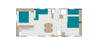 Mobile Home Begonia 38M² - 3 Rooms