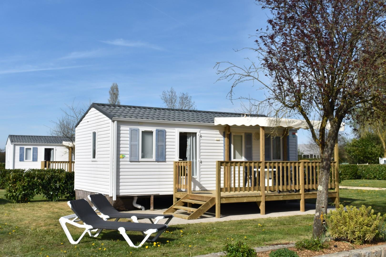 Rental - Mobile-Home - 2 Bedrooms - Camping Au Bord du Loir
