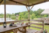 Rental - Glamping Safari Lodge PREMIUM, 64m², 3 bedrooms - Camping Village de La Guyonnière