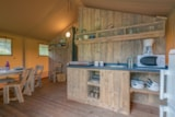 Rental - Glamping Woody lodge 3 bedrooms, 35m², without bathroom - Camping Village de La Guyonnière