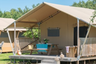 Glamping Woody Lodge 2 bedrooms, 35m²,  without bathroom, clim