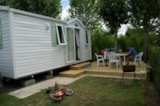 Rental - Comfort Cottage 3/4pers 24m² (2 bedrooms) - TV - Camping Plein Sud