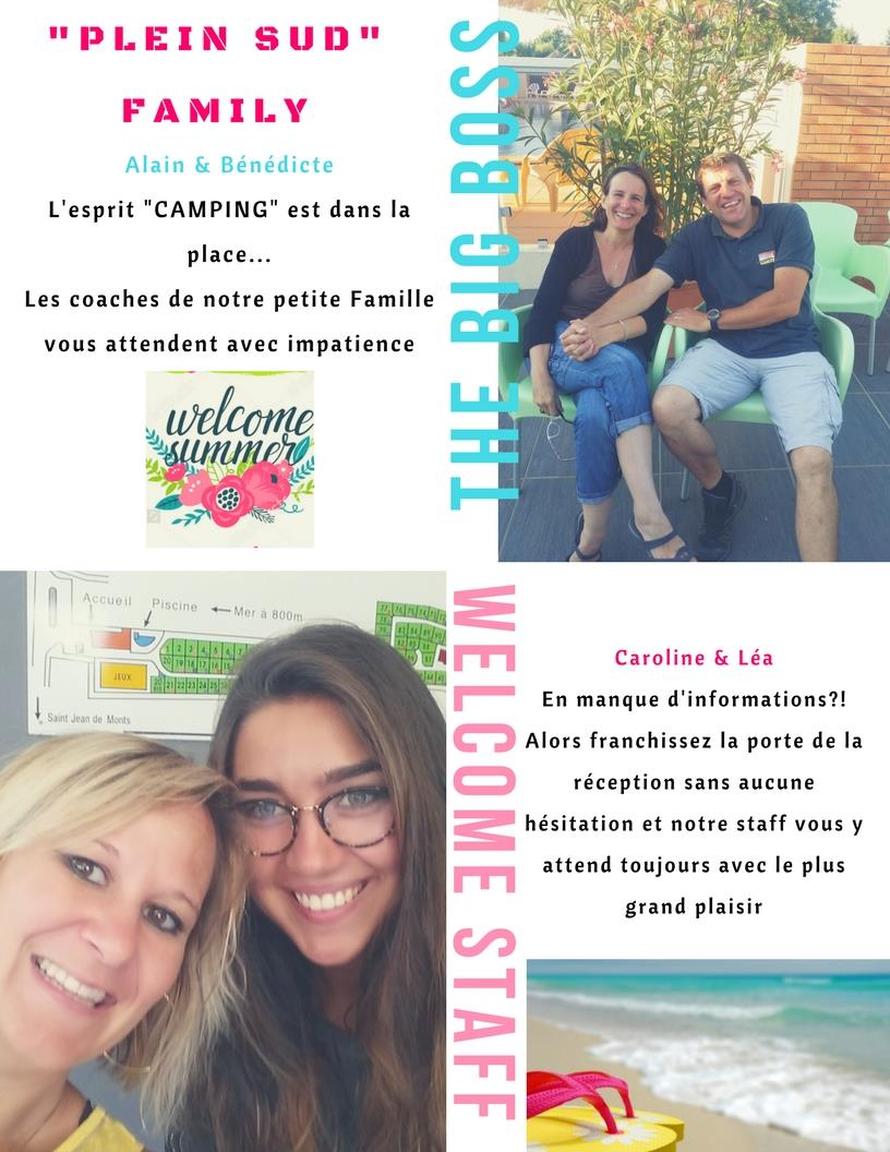 Reception team Camping Plein Sud - Saint Jean de Monts