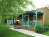 Rental - Chalet Bois 32 m² 3 bedrooms - Camping Les Charmes