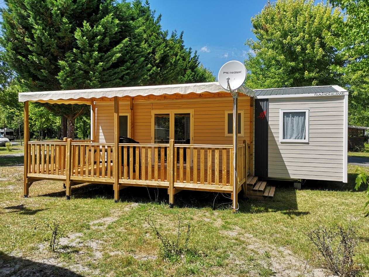 Location - Mobil Home 3 Chambres Confort - 34M² * - Camping L'Arbre d'Or