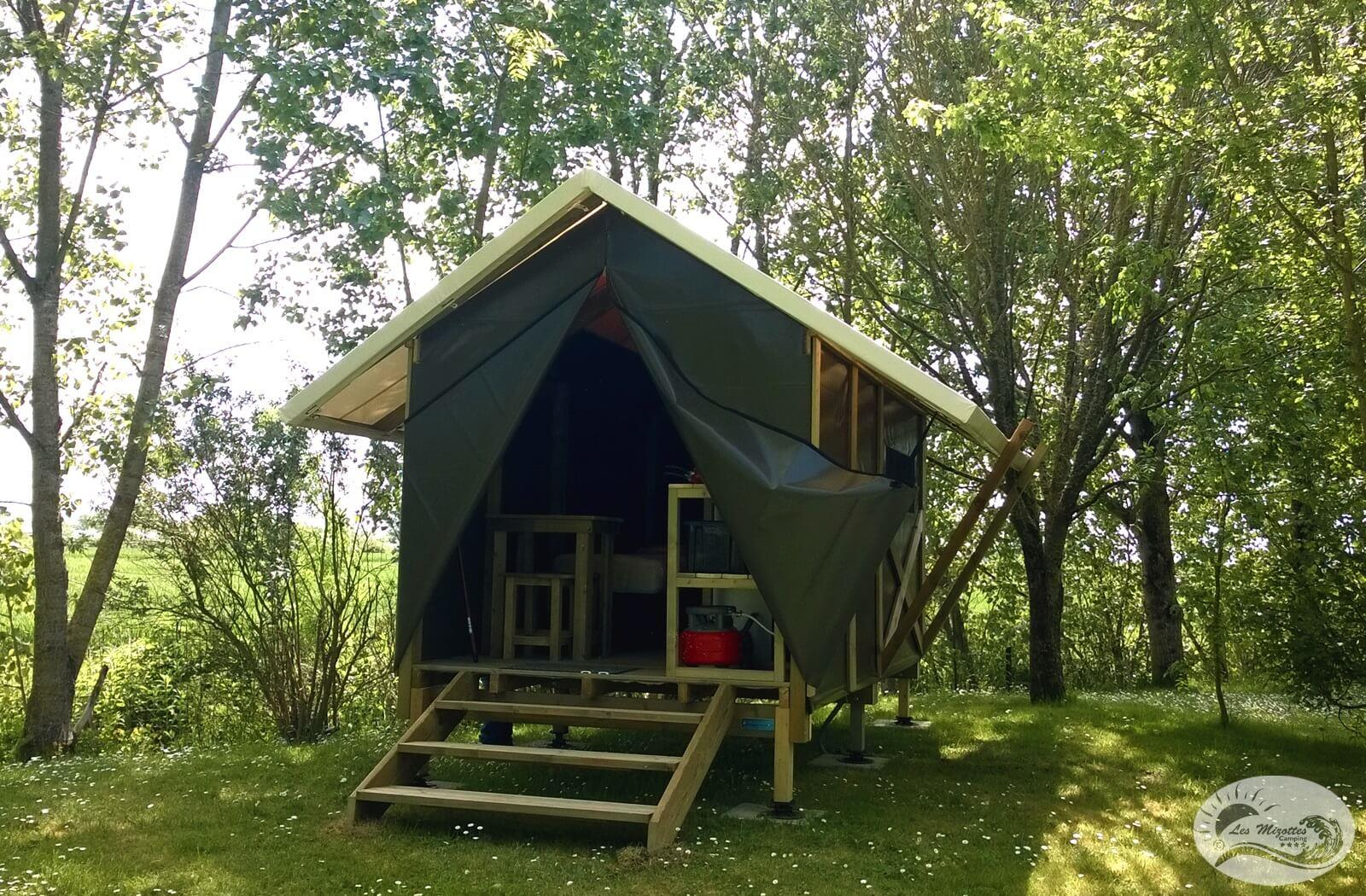 Huuraccommodaties - Lodg'yssée 1 Kamers 7 M² < 7 Years - Camping Les Mizottes