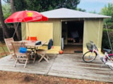 Rental - Canvas Bungalow 2 Bedrooms + Terrace - Camping La Parée Preneau