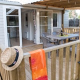 Rental - Mobile-home 2 bedrooms (adapted to the people with reduced mobility) + Half-covered terrace - Camping La Parée Preneau