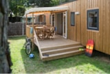 Rental - Mobile-Home Sequoia 3 Bedrooms + Half-Covered Terrace - Camping La Parée Preneau