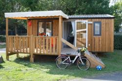 Mobile-home PIN 2 bedrooms + Half-covered terrace