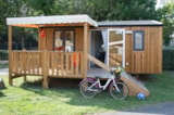 Rental - Mobile-Home Pin 2 Bedrooms + Half-Covered Terrace - Camping La Parée Preneau