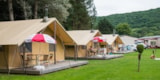 Rental - Safari tents 35m2/ 2 bedrooms - terrace with woodstove and toilet blocks - Camping Floreal La Roche en Ardenne 1