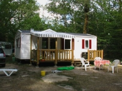 Rental - Mobile Home SUPER TITANIA 46m² - 2 bedrooms / Half-covered terrace - Domaine naturiste de Chaudeau