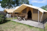 Rental - Furnished tent ECO 20m² (2 bedrooms) + Awning - Flower Camping La Corniche