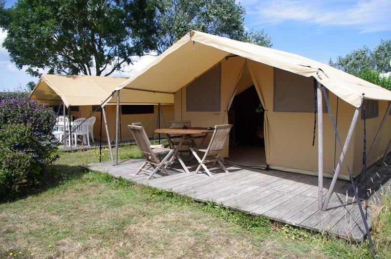 Furnished tent ECO 20m² (2 bedrooms) + Awning