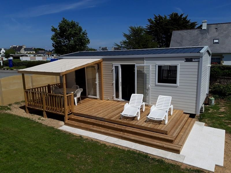 Mobil-home PREMIUM 34 m² 2 chambres - 2 sdb - terrasse - 4 pers.