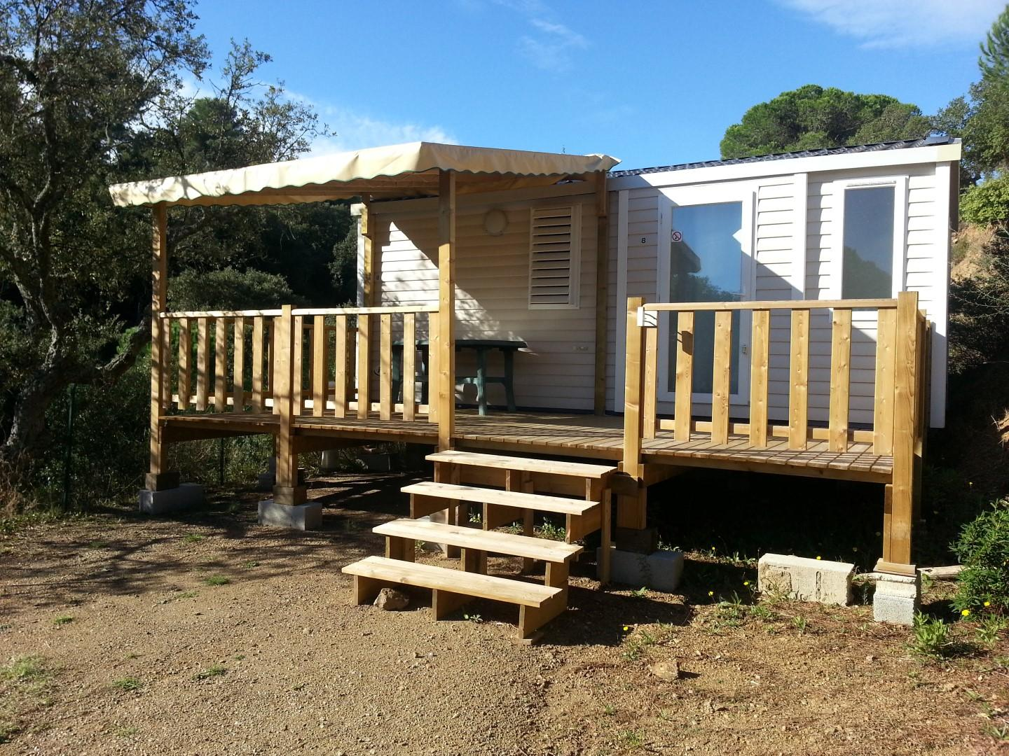 Location - Mobilhome Standard 23M² - Camping Les Lauriers Roses