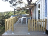 Rental - Mobile Home Confort 28m² + clim - Camping Les Lauriers Roses