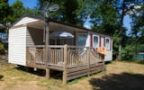 Rental - mobile-home TRIGANO EVOLUTION TI 31m2. Year 2011, arrival day on Monday - Camping SOLEIL LEVANT