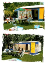 Rental - CARAVAN TRACINELLE 11m2 without sanitary equipments, arrival day at Sunday - Camping SOLEIL LEVANT