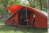 Pitch - Package Ready to Camp : package with a pitched and equiped tent - Camping La Buissiere