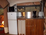 Rental - Lodge Confort  2 bedrooms / sheltered terrace (without toilet blocks) - Camping La Buissiere