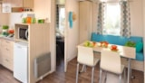 Rental - Mobil-home Domino 28m2 /2 bedrooms / Half-covered terrace / TV - Camping La Buissiere