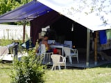 Rental - Canvas bungalow Freeflower CONFORT+ 37m²  (2 bedrooms) without toilet blocks - Flower Camping Le Lac aux Oiseaux