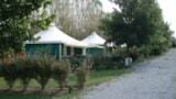 Rental - Canvas bungalow Furnished ECO 25 m² (2 bedrooms) without private facilities - Flower Camping du Lac de Bonnefon