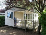 Rental - Mobilhome CONFORT + 30 m² (2 bedrooms) (1 to 5 et 5 to 10 years old) - Flower Camping du Lac de Bonnefon