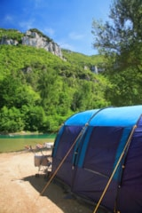 Pitch - Privilege Package (1 tent, caravan or motorhome / 1 car / electricity 10A) Riverside - Flower Camping PEYRELADE