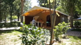 Rental - Canvas bungalow CANADA Confort + 20m² 2 bedrooms - Flower Camping PEYRELADE