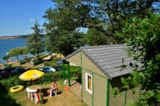 Rental - Chalet Confort - Camping Sites et Paysages BEAU-RIVAGE DU LAC DE PARELOUP