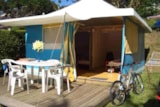 Rental - Bungalow Canvas (New) - Camping Sites et Paysages BEAU-RIVAGE DU LAC DE PARELOUP