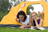 Pitch - Small Pitch Tent For 2 People + Car / Motorcycle - Camping am Waldbad