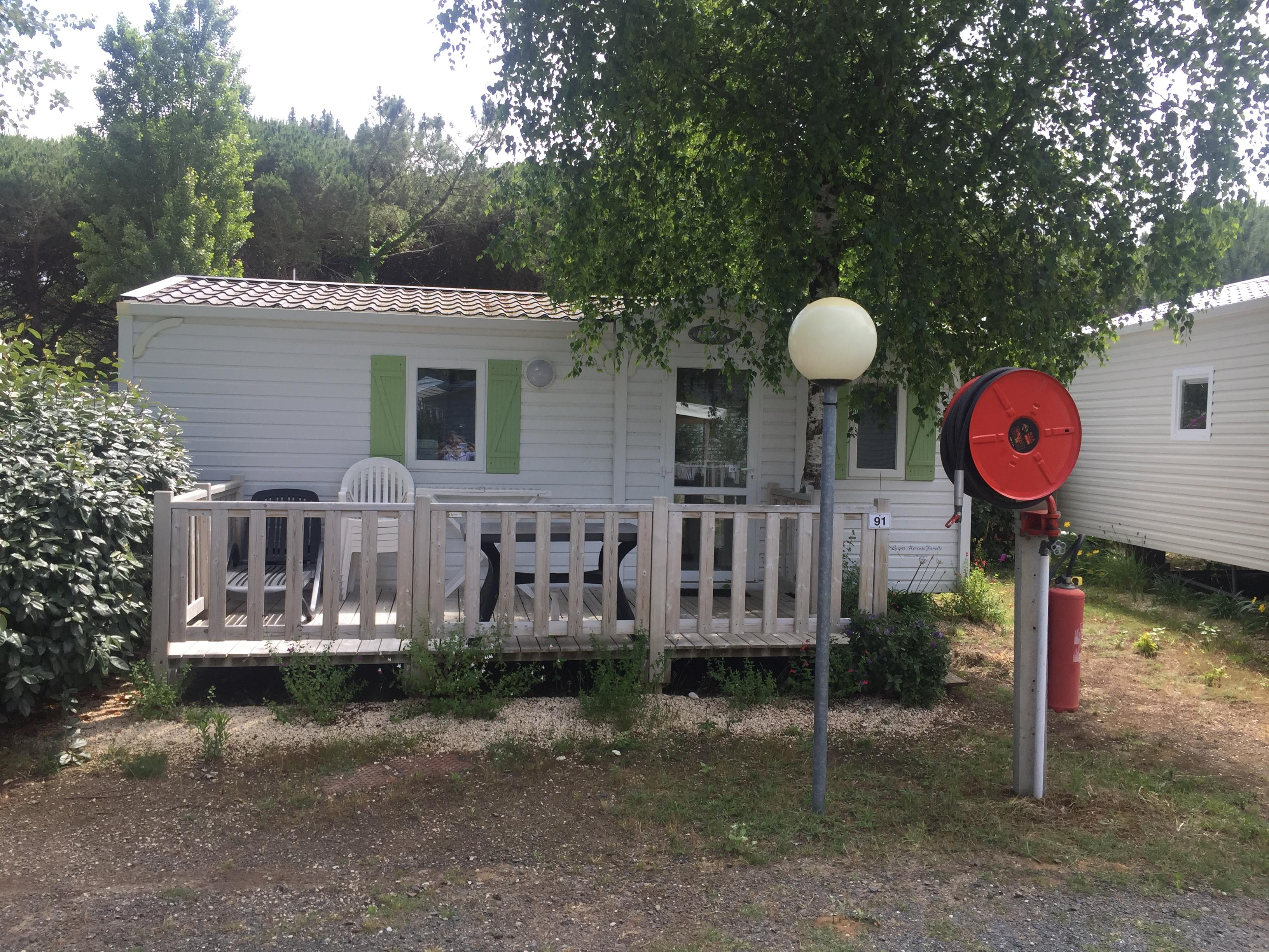 Accommodation - Mobil-Home  Funny - Terrace - 2 Bedrooms - Camping LES CALQUIERES