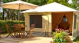 Rental - Canvas Bungalow 20M² 2 Bedrooms (Without Private Facilities) (Mercredi) - Camping LES CALQUIERES