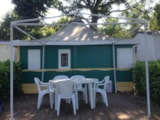 Rental - Canvas bungalow with private facilities 25 m² - Camping Le Saint Etienne