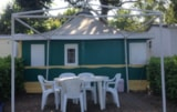 Rental - Canvas bungalow 16 m² + water - Camping Le Saint Etienne
